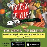 Online Grocery Delivery Services - Angels - The Rider App